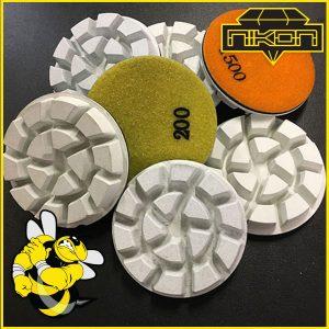 "3"" Stinger Concrete Polishing Pucks by Nikon Diamond"