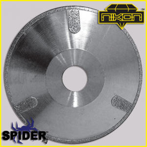 The Spider Electroplated Concave Blade by Nikon Diamond Tools for marble