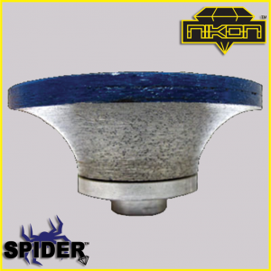 The Spider Demi-Bullnose Profile Wheel for shaping granite, and other natural stones