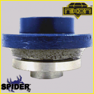 The Spider Round Over Profile Wheel for shaping granite, and other natural stones