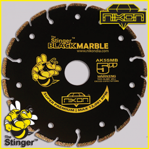 The Stinger Black Electroplated Blade by Nikon Diamond Tools for marble