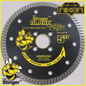 The Stinger Black Turbo Diamond Blade by Nikon Diamond Tools for granite, quartz, natural stone