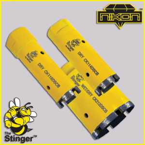 The Stinger Segmented Core Bit by Nikon Diamond Tools for Granite, Quartz, Natural Stone, Engineered Stone