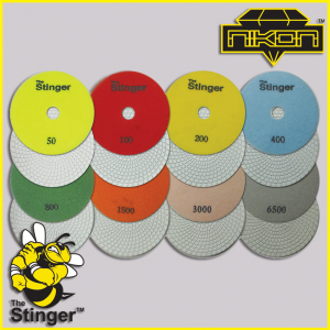 The Stinger Concrete Spiral Brick Polishing Pads by Nikon Diamond Tools for Concrete