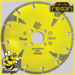 The Stinger Electroplated Blade by Nikon Diamond Tools for marble
