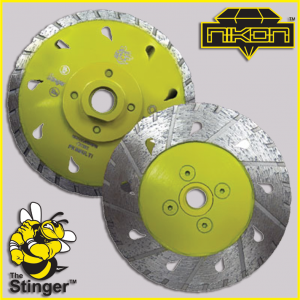 The Stinger Multi-Cutter Diamond Blade by Nikon Diamond Tools for granite, quartz, natural stone