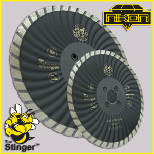 The Stinger Waved Turbo Diamond Blade by Nikon Diamond Tools for granite, quartz, natural stone