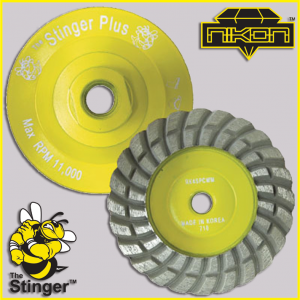 The Stinger Grinding Aluminum Cup Wheels by Nikon Diamond