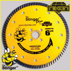 The Stinger Plus Turbo Diamond Blades by Nikon Diamond Tools for granite, quartz, quartzite, natural stone, engineered stone