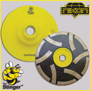 The Stinger Grinding Resin Filled Cup Wheels by Nikon Diamond