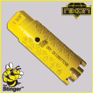 The Stinger Turbo T-Type Core Bit by Nikon Diamond Tools for Granite, Quartz, Natural Stone, Engineered Stone