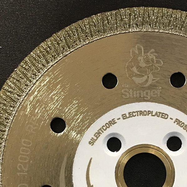 The Stinger Electroplated Blade for Cutting Porcelain, Quartz, Quartzite, Granite